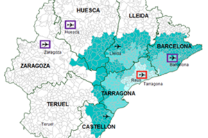 Map Of Spain Reus.Reus Airport Reu Unserved Routes In The Route Shop