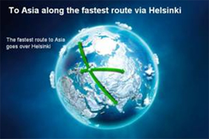 Helsinki Airport to Asia Fastest Route