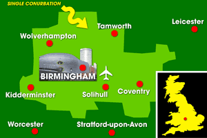 Birmingham Airport catchment area