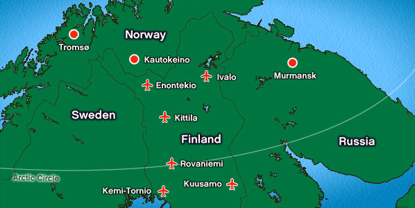 Kuusamo Airport  catchment map