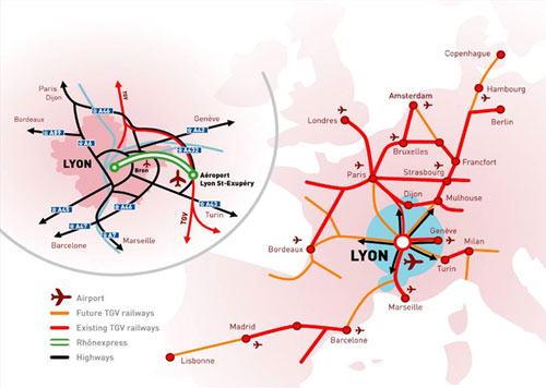 Lyon Airport catchment rail links