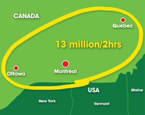 montreal airport catchment