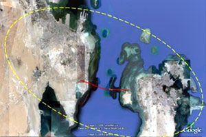 Bahrain International Airport catchment