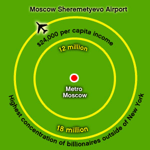 Moscow Sheremetyevo International Airport Catchment map