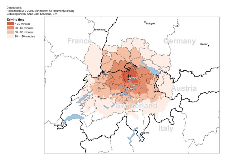Zurich Airport catchment graphic