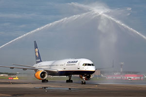 The launch of Icelandair flights from Pulkovo to Reykjavik.