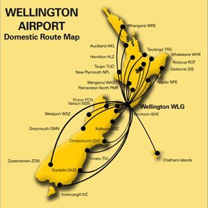 Welling Airport: Domestic route map