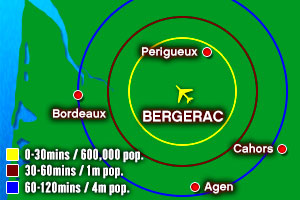 Bergerac catchement map