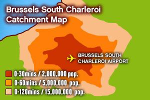 Brussels South Charleroi catchment map