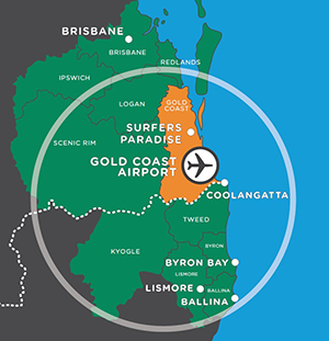 Gold Coast Airport OOL Unserved Routes in the Route Shop